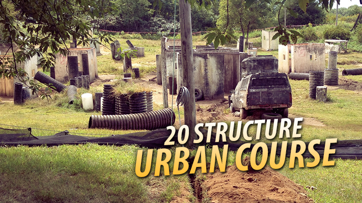 urban paintball course