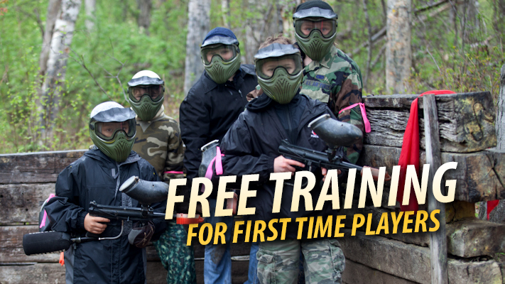 Kids learn to play paintball